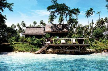 Private Island hotel, near Vanuatu.