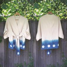 Indigo-dyed cotton robe.