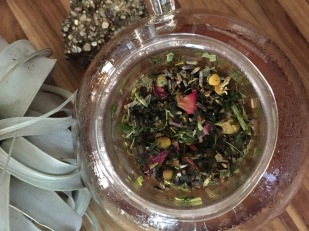 Organic 16-herb blend tisane, specifically formulated to reduce anxiety.