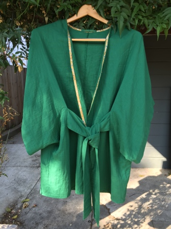 Bespoke Japanese double-gauze cotton robe.