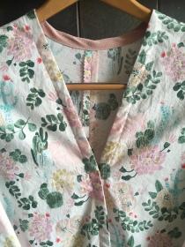 Bespoke cotton robe.
